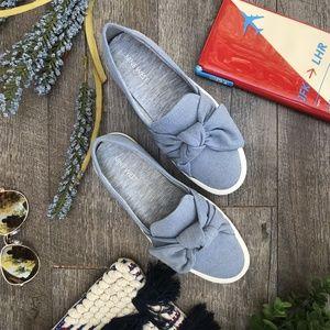 Nine West Oriao Blue Slip On Sneaker Size 5.5 NEW